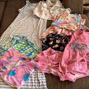 9pc Maxi Dress,Denim Vest, Flannel Shorts,Tanks/T